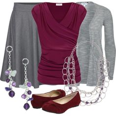 Burgundy and Gray, minus the accessories...