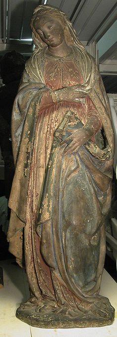 Copia da Benedetto da Maiano(1442–1497) - Vergine Annunciata - XV sec. - Metropolitan museum of art