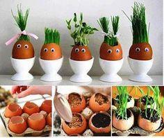 decoration for Easter :) Easter Crafts For Kids, Diy For Kids, Funny Eggs, Rabbit Crafts, Kitchen Ornaments, Diy Ostern, House Plants Decor, Egg Decorating, Egg Shells