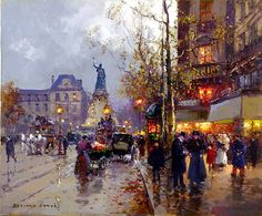 Lankaart Edouard Cortes Paintings | Place de la Republique