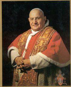 Pope John XXIII - beloved, gentle pontiff who convened The Second Vatican Council. After so many years of the aristocratic, cold Pope Pius XII, this warm man who came from peasant stock made the Church much more human. Catholic Saints, Roman Catholic, Pacem In Terris, Papa Juan Pablo Ii, Rome, Juan Xxiii, Pope Pius Xii, Pope Benedict Xvi, Religion Catolica