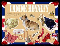 Diamond Jubilee Corgi magnetic paper doll set Canine Royalty. $12.00, via Etsy. #corgi