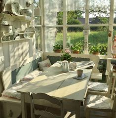 cottagecore cozycore kitchen house cottage core cozy core aesthetic soft cute happy goblincore goblin core window wooden table ulzzang chairs and drinks porch