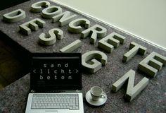 BETON Buchstaben / Zahlen Arial Narrow 24cm Versalhöhe ____Anspruchsvolles, cooles Design. __________________Kreativität und Ideen _______i...