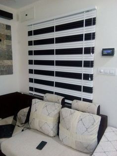 Venetian Blinds with Black and White Contrast