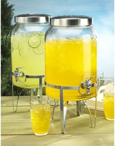 Bust of Cheer Up Your Party with a Classy Glass Beverage Dispenser with Metal Spigot