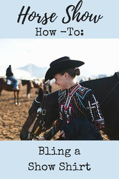 DIY Horse Show Shirt | Are you ready to start styling in the horse show arena? Check out these tips on how you can have great horse show style without breaking the bank! Bling horse show shirts yourself for a beautiful and unique look.