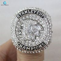 Chicago Blackhawks 2015 NHL Stanley Cup Championship Ring Black Enamal Crystal Silver Pleated Ring Men Jewelry