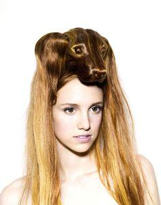 Hair hats by Nagi Noda - Kinda weird, kinda cool...