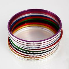 Fashion Alloy Simple Colorful Bracelet Bangle