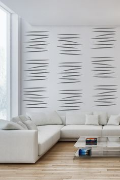 Wall Decals  Line Graphic 1 Lines, Verticle, Contemporary, Sticks-WALLTAT.com Art Without Boundaries
