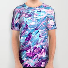 """""""Frosted Feathers"""" by Ebi Emporium on @society6 all over print tshirt"""