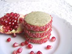 Pomegranate White Tea Cookies 1 Dozen by ButterBlossoms on Etsy, $11.50
