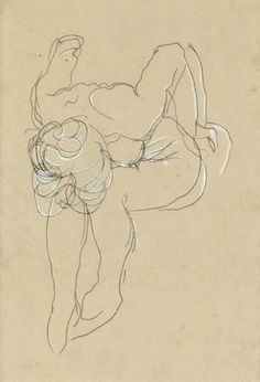 Figure drawing by Auguste Rodin