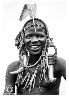 African Beauty, African Art, African Image, African Tribal Makeup, Black And White Portraits, Black And White Photography, Africa Tribes, Africa People, Tribal People