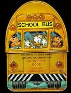School bus lunch box