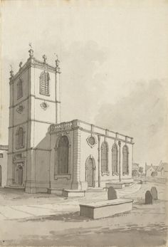 St Peter at Arches Church, Lincoln by Samuel Hieronymous Grimm, Lincoln England, Early American Homes, 11th Century, Taj Mahal, Medieval, Arches, Old Things, Marketing, History