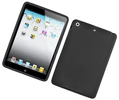"""Stealth Jet Black {Matte Modern Plain} Soft and Smooth Silicone Cute 3D Fitted Bumper Back Cover Gel Case for iPad Mini 1, 2 and 3 by Apple """"Durable and Slim Flexible Fashion Cover with Amazing and Creative Cartoon Design - All Ports Accessible"""" mySimple Products http://www.amazon.com/dp/B00WL7G7W0/ref=cm_sw_r_pi_dp_CulCwb0R9B6GJ"""