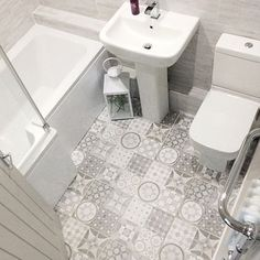 Take a look at this necessary illustration as well as take a look at today relevant information on Small Bathroom Renovation Ideas Bathroom Floor Tiles, Bathroom Toilets, Dyi Bathroom, Bathroom Cabinets, Bathroom Design Small, Bathroom Interior Design, Small Grey Bathrooms, Downstairs Toilet, Bathroom Goals