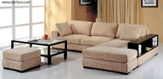Sectional Sofas, Leather Sectionals, Microfiber Sectional Sofas: Telus (Beige) RF