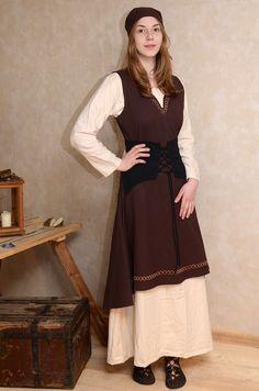 Kleid Lannion ohne �rmel in braun