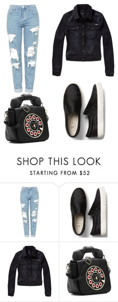 """""""My First Polyvore Outfit"""" by lorenaleao ❤ liked on Polyvore featuring Topshop, Scotch & Soda and Betsey Johnson"""