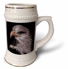 SmudgeArt Bird Art Designs - The Custodian - Eagle Keeping Watch - 22oz Stein Mug (stn_101117_1) 3dRose http://www.amazon.com/dp/B014E0C0WM/ref=cm_sw_r_pi_dp_M28bwb1G2FF2S
