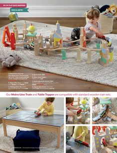 November 2016 Furniture & Toy Catalog Toy Catalogs, Adjustable Table, Wooden Train, Train Set, Train Tracks, Table Toppers, Besties, November, Living Room