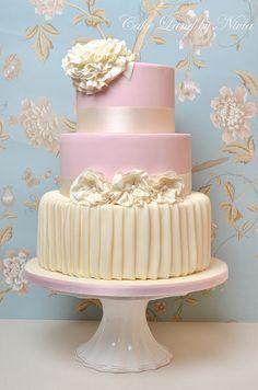 Fabric wedding cake