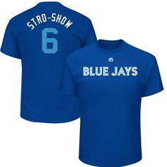 "#Fanatics.com - #Majestic Marcus Stroman ""Stro-Show"" Toronto Blue Jays Majestic 2017 Players Weekend Name & Number T-Shirt - Royal - AdoreWe.com"