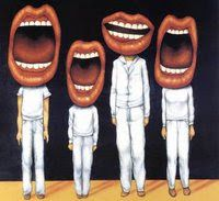 Anita Kunz imagines a Talking Heads album cover that never was. Remain In Light, Effective Meetings, Johnny Rotten, King Crimson, Gifs, Difficult Conversations, Pochette Album, Cover Art, Album Covers