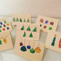 #christmas #christmascards #weihnachten #weihnachtskarten #diy #schnipselkunst #papierschnipsel