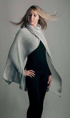 knitted merino wool lace shawl stole scarf color grey by iveta67, $70.00