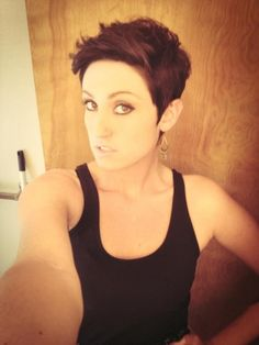 11. #Hipster Pixie - 31 Perfectly #Precious Pixie Cuts ... → Hair #Pixie