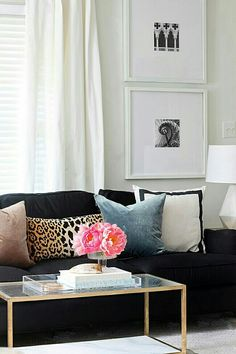 Sala Black Sofa DecorLeopard Home DecorLiving