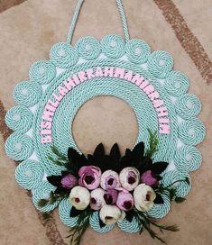 Instagram'da Serife❤Sedat (@askn.meali) Jute Crafts, Crochet Crafts, Felt Crafts, Diy And Crafts, Arts And Crafts, Felt Flower Bouquet, Felt Flowers, Diy Flowers, Rope Art