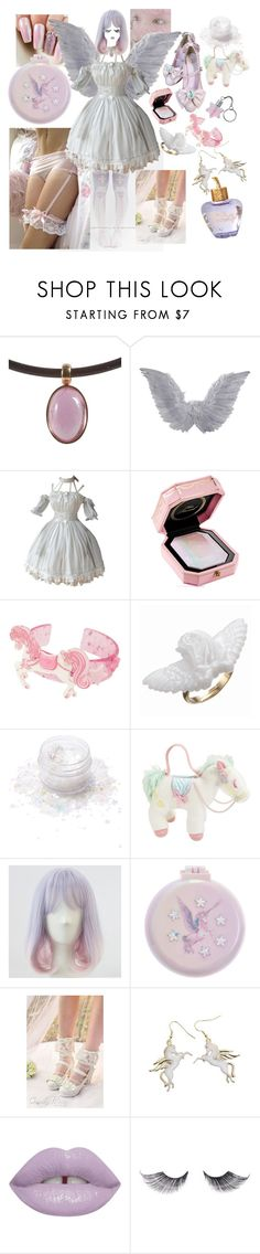 """Pegasus"" by discochampion ❤ liked on Polyvore featuring Hot Topic, Too Faced Cosmetics, Lunautics, Monsoon, Topshop and Lolita Lempicka"