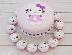 Hello Kitty tårta  och cupcakes mall