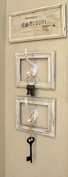 ■ Best DIY Ideas...        cool idea - so you don't have to run around looking for your keys 5 minutes after you should have already left