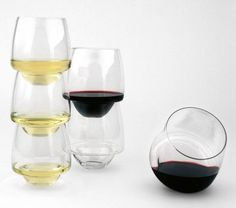 "Superduperstudio designs ""spillproof"" wine glasses"