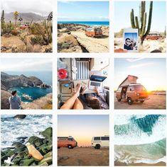 """Actuellement au Mexique, les deux amoureux prennent plaisir à mettre en scène leur combi appelé """"popo"""" dans des paysages toujours plus spectaculaire. Super Cars Images, Car Images, Lonely Planet, Vans, Mexico, Landscapes, Van"""