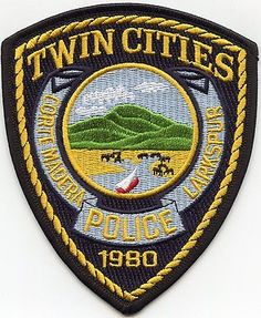TWIN CITIES Corte Madera - Larkspur CALIFORNIA CA POLICE PATCH