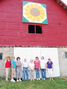 Sunflower barn quilt.