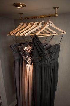 monogrammed hangers for bridesmaids