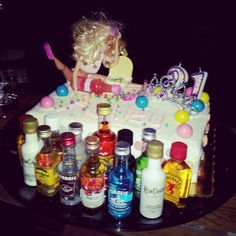 Ashley's drunk Barbie cake!