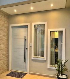 Home Design Decor, Home Room Design, Door Design, Home Interior Design, Tv Wall Design, Interior Decorating, House Doors, House Entrance, Modern Entrance Door