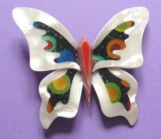 The Lea Stein large butterfly brooch.  Photographed by Gillian Horsup. #LeaSteinBrooch #LeaSteinButterflyBrooch