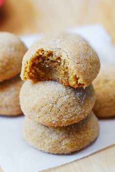 The best peanut butter cookies - look how thick they are.
