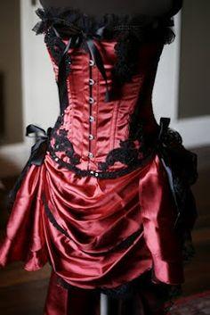 red dance hall  corset
