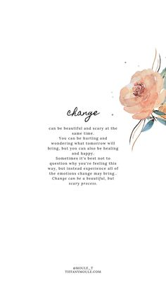 Change Quote by Tiffany Moule
